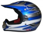 Kinder Crosshelm Racing V310, blau