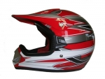 Kinder Crosshelm Racing V310, rot